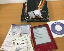 Sistema de lector de portátil Sony PRS-505 Libro electrónico Prs-505 Rojo