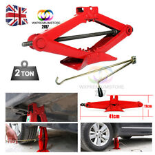 2 Ton Tonne Scissor Wind Up Jack for Car Van - with Chromed Crank Speed Handle