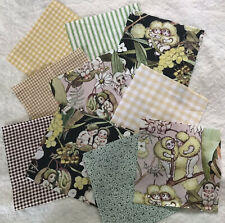 """10 x Gum Nut Babies Fabric 5"""" Charm Squares - Cottagecore with Gingham"""
