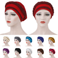 Women Muslim Braid Head Hijab Turban Wrap Cover​ Cancer Headwear Chemo Cap Hat