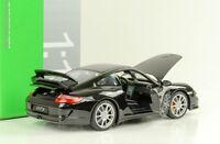 Porsche 911 997 GT3 black 2008 schwarz 1:18 Welly Diecast