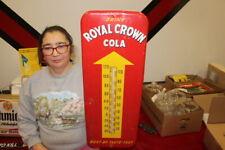 "Vintage 1952 RC Royal Crown Cola Soda Pop 26"" Metal Thermometer Sign WORKS"