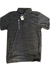 58% Off! NWT Under Armour Heat Gear Golf Polo Shirt Mens Medium Dark Gray