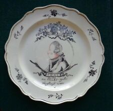 Antique Dutch Creamware Royal Souvenir Plate William V Prince of Orange