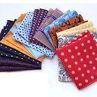 """10"""" Wholesale 1 100 Pcs Men's Various Pocket Square Lot Hankie Handkerchiefs"""