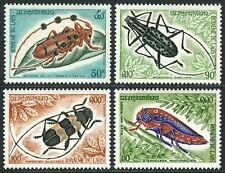 Laos 253-255,C119,  MI 390-393, MNH. Insects. Beetles, 1974