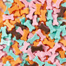200pcs Resin Cabochons Bone with Word Dog Flat Back Charms Ornament Mixed Color
