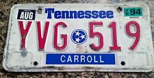 Tennessee License Plate - # YVG 519 - Single Plate 1994