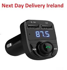 iPad Tablet Phone Bluetooth Car Kit Handsfree FM Transmitter Music Dual USB AUX