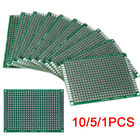 Lot 10/5PC Double Side 5x7cm Printed Circuit PCB Prototype Track Strip Board DIY
