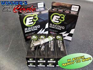 E3 Spark Plugs E3.102 - Race Plug 14MM, .750 Reach Gasket Seat - Set of 8 Plugs