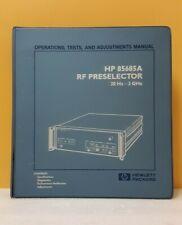 Hp 85685 90003 85685a Rf Preselector 20hz 2ghz Operationstestsadjustments
