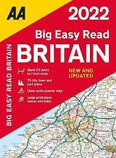 AA Big Easy Read Britain 2022 Paperback AA Road Atlas Britain, ,  Paperback