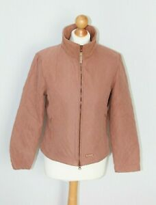 Puffa Country Brown Full Zip Quilted Jacket Coat Walking Autumn Winter Size 14