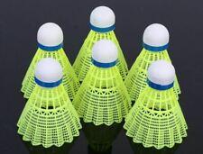 6pcs Speed Training Sport YellowFeather Shuttlecocks Birdies Badminton Ball Game