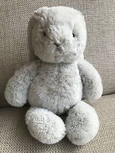 Marks and Spencer M&S Light Grey Bunny Baby Soft Beanie Plush Toy Comforter