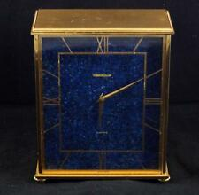 JAEGER LE COULTRE 'Electric' Swiss Made Mantel Desk Clock Lapis Lazuli Face 16cm