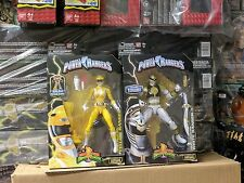 Mighty Morphin Power Rangers Legacy collection white & yellow ranger sentai Misb