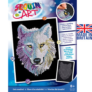Sequin Art 1932 Snow Wolf DIY Craft Kit From The Blue Range