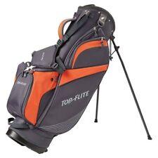 New Top Flite Golf Stand Bag Dual Carry Strap Grey Orange Golf Bag Top-Flite