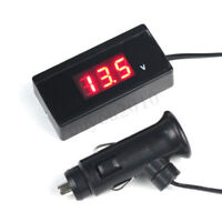 12V/24V Mini Digital Red LED Voltmeter Auto Car Battery Voltage Gauge Meter