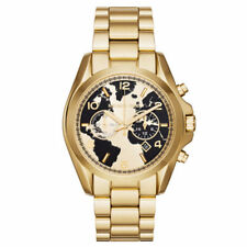 Michael Kors MK6272 Bradshaw Hunger Gold Men's Chronograph Globe Dial Watch