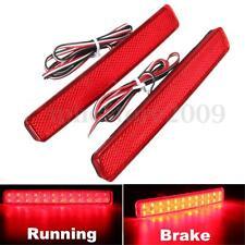 2x Red Rear Bumper Reflector LED Stop Brake Driving Light For VW T5 Transporter