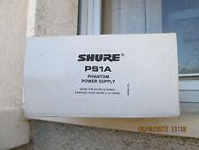 SHURE PHANTOM POWER SUPPLY  MOD. PS1A