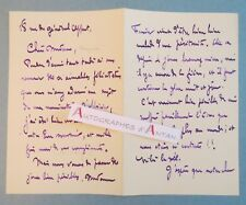 L.A.S 1903 Gabriel FERRIER Peintre orientaliste à Mme BOUGUEREAU né Nîmes lettre