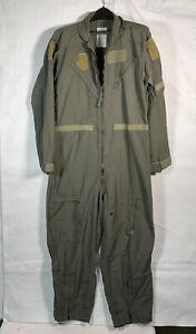 Vintage US Air Force Mens 44 Regular Flyers Coveralls Sage Green (44R) #1