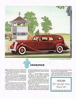 1936 BIG Original Vintage Packard Twelve Limousine Car Automobile Art Print Ad