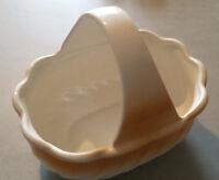 OSTER-Deko Körbchen / Schale mit Henkel aus Keramik(?) ca. 17 x 22 x 16 cm