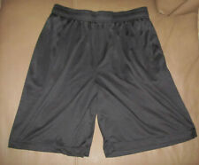 Black Large Athletic Elastic Waist Basketball Shorts Pockets Hibbett Sports