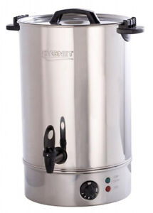 Cygnet Boiler CATERING Medium 20L Litre Hot Water Tea Urn - Stainless Steel NEW