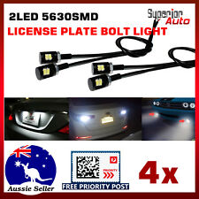 4x LED License Number Plate Light Screw Bolt 5630 SMD White For Car Motorcycle
