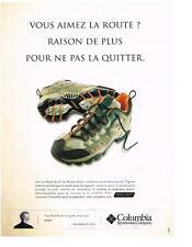 PUBLICITE ADVERTISING  2003   COLUMBIA  chaussures des blacks rocks