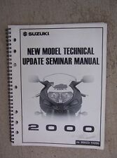 2000 Suzuki Motorcycle New Model Technical Update Seminar Manual Atv Cruiser L