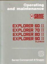 Stesso trattore Explorer 60 70 80 90 II Turbo operatori manuale