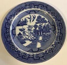 "1902 Ridgways England Semi China 10"" Blue Willow dinner plate"