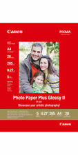 """Canon Photo Paper Plus Glossy II 5"""" x 7"""" 20 Sheets 10.6 mil  PP-201 New Sealed"""