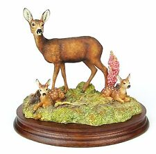"Deer w Fawn Figurine ""In A Sunny Glade"" BO255 - Made Scotland 1998 * Ex Showroom"