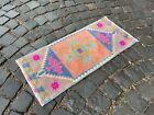 Handmade rug, Bohemian rug, Turkish vintage rug, Small rug | 1,2 x 2,7 ft