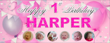 Large Personalised Birthday Party Banner Decoration 1st/2nd/3rd/4th/5th ANY AGE