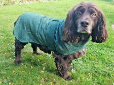 Green Danish Design Dog Drying Coat, Bath Robe, Bath Walk Mud, Cotton, 30cm-70cm