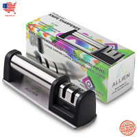 Kitchen Knife Sharpener - 2-Stage Chef Knife Sharpening Tool Anti-Slip Base