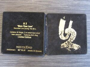 U2 MORE THAN LOVE 2CD LIVE LIMITED EDITION NEVEREND ANNIVERSARY