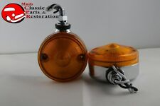 "3"" Amber Single Face Fender Body Mount LED Lights Hot Rat Rod Truck Motorcycle"