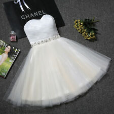 NEW Evening Formal Party Ball Gown Prom Bridesmaid Short Mini Host Dress YRPX