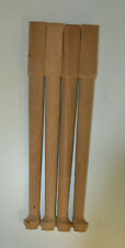 New listing A set of 4 unfinished cherry end table legs spoonfoot