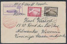 Zeppelin 2. Südamerikafahrt 1931 Anschlussflug Berlin Polarfahrt Marken (S15383)